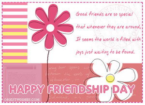 Happy Friendship Day, Send Friendship Day SMS, Quotes, E-Card ...