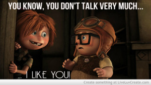 adorable, carl, cute, ellie, love, movie, pretty, quote, quotes, sweet ...