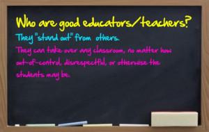 Experience Good Teacher The