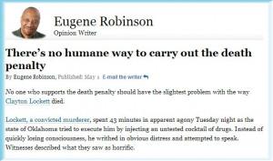 Eugene Robinson Sums it up Poignantly... ( 1+ / 0- )