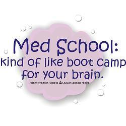 med_school_boot_camp_bumper_bumper_sticker.jpg?color=White&height=250 ...