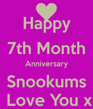 Happy 7th Month Anniversary Quotes