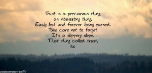 Quotes On Trust HD Wallpaper 11
