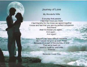 side forever because i love you journey of love personalized ...