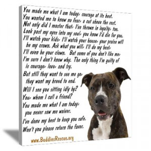 CafePress > Wall Art > Canvas Art > Only Thing, Pit Bull Canvas Art