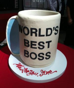 """Steve Carell's """"World's Best Boss"""" Cake"""