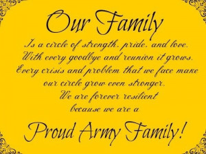 Proud Army Family Quotes