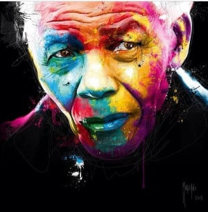 Nelson Mandela.Rainbow Nation. Speech. Quotes. Art. Patrice Murciano