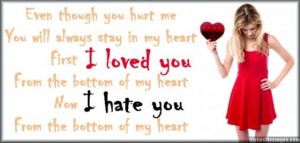hate you messages for him: Cheating and betrayal by ex-boyfriend or ex ...