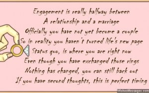 Engagement Congratulations Quotes Funny Funny engagement card poem for