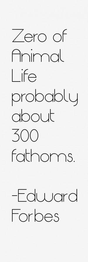 "Zero of Animal Life probably about 300 fathoms."""