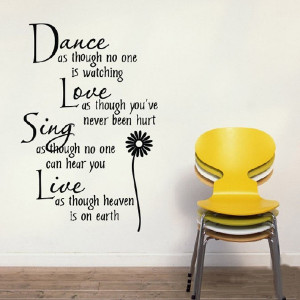 Dance-Love-Sing-Live-Quote-Vinyl-Decor-Removable-Wall-Stickers-Art ...