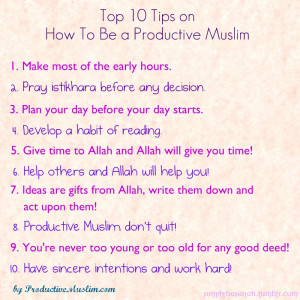 10 tips to be productive muslim