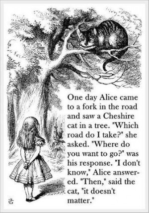 alice in wonderland fork in the road