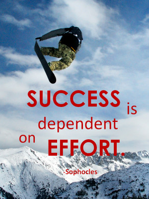 Success is dependent on effort