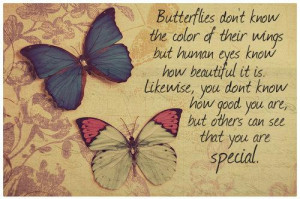 Butterflies don't know the color of their wings, but human eyes know ...