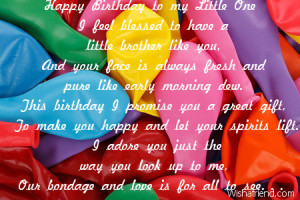 birthday quotes for little happy birthday little brother quotes