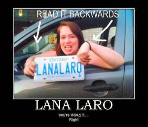 ... funny-joke-road-street-drive-driver-lana-laro-license-plate-subliminal