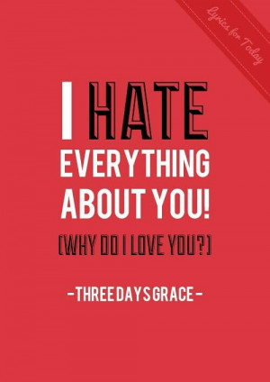 Hate Everything About You- Three Days Grace