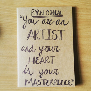 Ryan O'Neal Quote | Paperchase Cahier | Hand-drawn cover notebook with ...