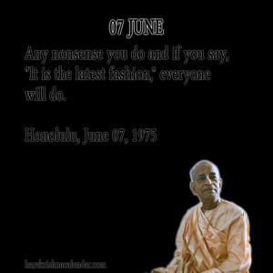 Srila Prabhupada Quotes For Month June07