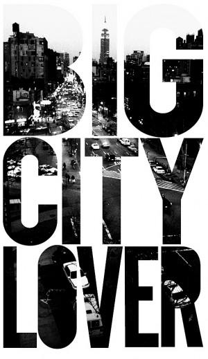 big city lover artist yuri shibuya big city lover a bold typo graphic ...