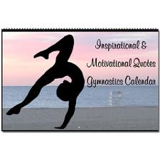 GYMNAST QUOTES Oversized Wall Calendar for