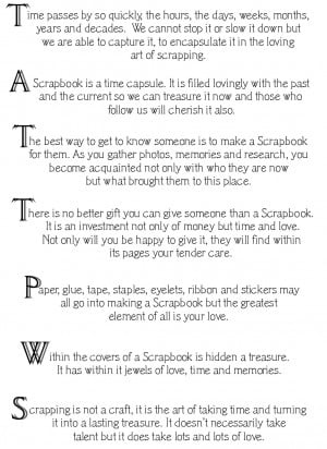 ... Home Page >> nanatucson's Scrapbooks >> Scrapbook Sayings - Page 1