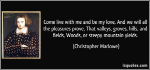 More Christopher Marlowe Quotes