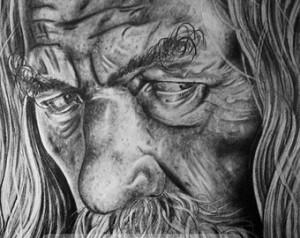 Gandalf Ian Mckellen And Frodo Elijah Wood In The Mines Of Moria ...