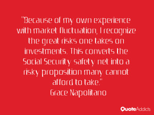 ... safety net into a risky proposition many cannot afford to take