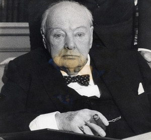 Winston Churchill photographed after being made an Honorary Citizen of ...