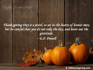 Thanksgiving Quotes, Quotations, Sayings & Thoughts