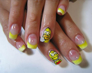 Nail artists provide you with a great variety of cartoon nail art ...