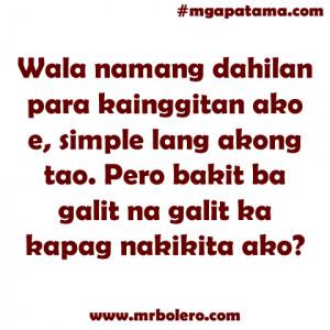Mga Patama Quotes and Banat Tagalog Love Quotes Collections Online.