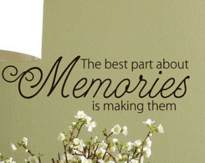Memories Quote Vinyl lettering word s Wall Decal, Family room Decor ...