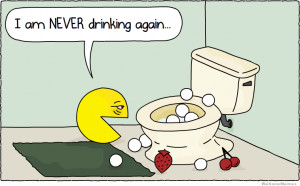 Pacman after a rough night – I am never drinking again – comic