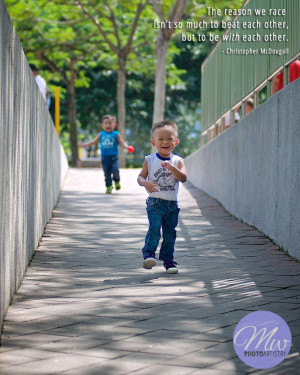 ... Christopher McDougall #Quote #Happy #Children #Running #Twins #