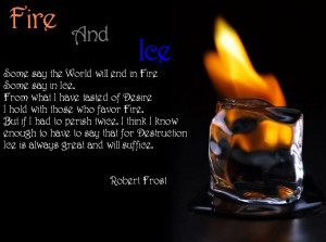 Go Back > Gallery For > Fire And Ice Love Quotes