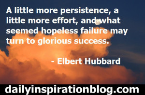 Elbert Hubbard quotes persistence quotes