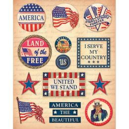 Military Clearly Yours Stickers-Patriotic Sayings