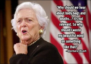 Barbara Bush's Beautiful Mind