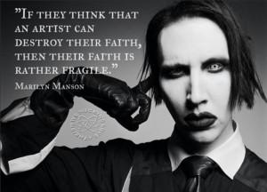 If they think an artist can destroy their faith…