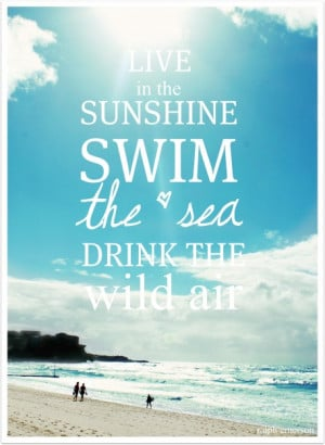 Drink the Wild Air #Swim the Sea #Quotes #Ralph Waldo Emerson # ...