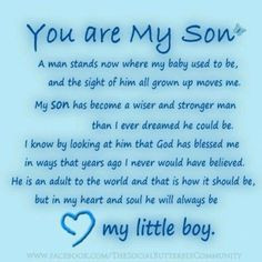 son's | sayings and quotes sons birthday quotes, happy birthday my son ...
