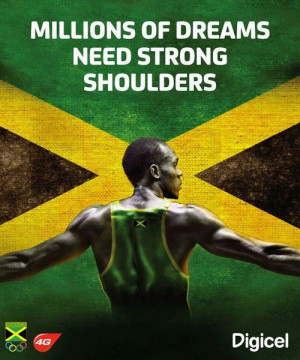 Usain Bolt. Millions of Dreams Need Strong Shoulders. #UsainBolt # ...