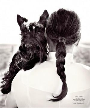 Ali MacGraw her Scottish Terrier