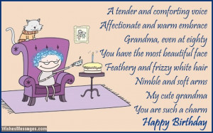 Nana Poems From Grandchildren 80th birthday card poem for