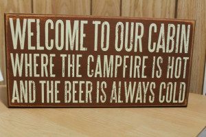 cabin sign: Cabins Decor, Cabin Signs, Cabins Girls, Signs Blocks ...