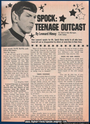spock teenage outcast